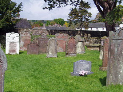 The Peel Family gravestones.